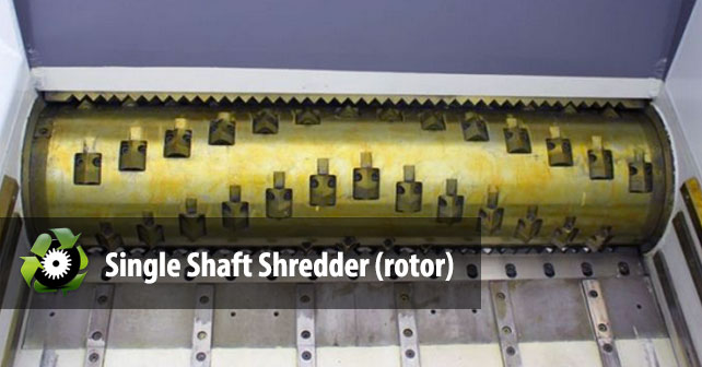 single-shaft-shredder-rotor