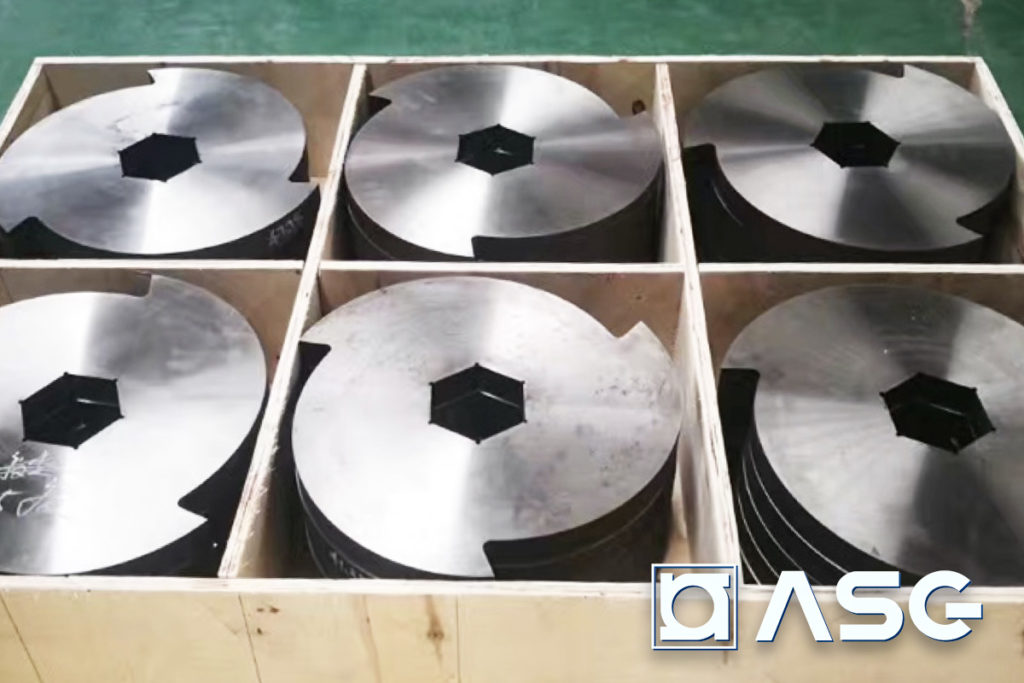 replacement blades for double-shaft shredder machines