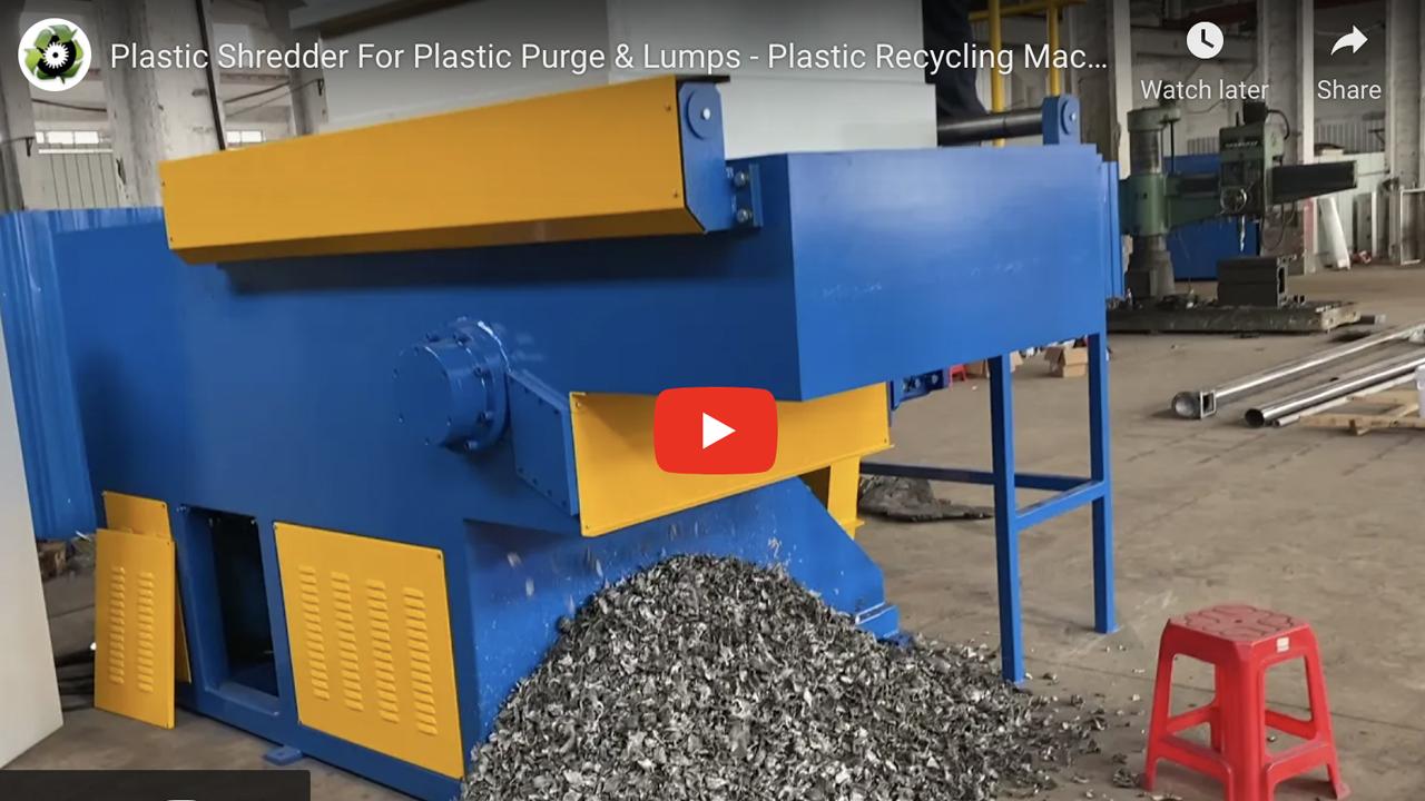 1000kg/hr plastic shredder machine for plastic purges and lumps